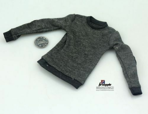 1//6 Male Black Sweater Clothes Long sleeved T-shirt For 12/'/' Action Figure Model