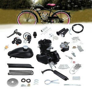 50cc-2-Stroke-Black-Bicycle-Engine-Petrol-Gas-Motor-Kits-Cycle-Motorized-Bike
