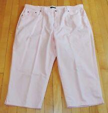 Women's Plus Size 20W Ralph Lauren Pink Cotton Capri Pants