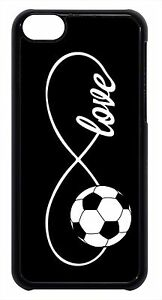 Soccer-Infinity-Love-Forever-Black-Case-Cover-for-iPhone-4s-5-5s-5c-6-6-Plus