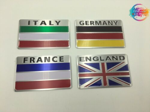 "3D Aluminum Alloy Various Flag Metal Emblem Sticker Decal Car(3.15/""x 2/"")"