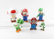 Super Mario Bros 6 x Figuren Joshi Luigi Toad Peach Donkey Kong etc.