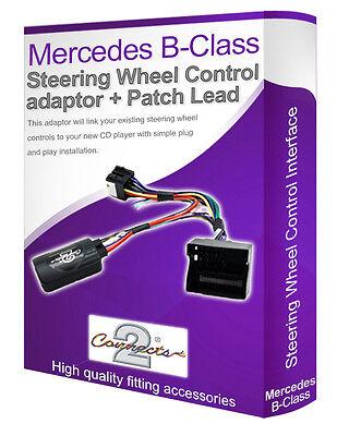 Connectez votre Volant tige contrôle Mercedes Classe-B Voiture Stéréo Adaptateur