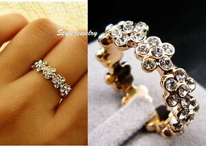 Rose-Gold-Filled-Clear-Women-Flower-Bridal-Ring-Made-With-Swarovski-Crystal-R157