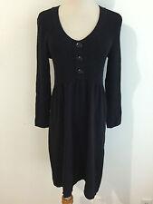 Banana Republic Scoop Neck Sweater Dress Cotton/Wool Black Size S