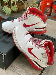 2008-NIKE-AIR-ZOOM-LEBRON-VI-6-OHIO-STATE-Size-11-Basketball-Shoes-NEW-IN-BOX