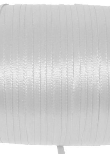 Eloja ® 2 metros de cuerda banda alta calidad estable cordones Corsage 5 mm de ancho blanco