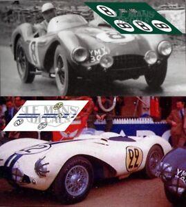 Calcas Aston Martin Db3s Le Mans 1954 8 22 1:32 1:24 1:43 1:18 64 87 Slot Decals