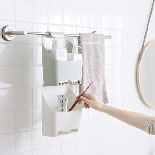 Bathroom Plastic Basket Shower Caddy Hanging Rack Tidy Shelf Organiser Storage