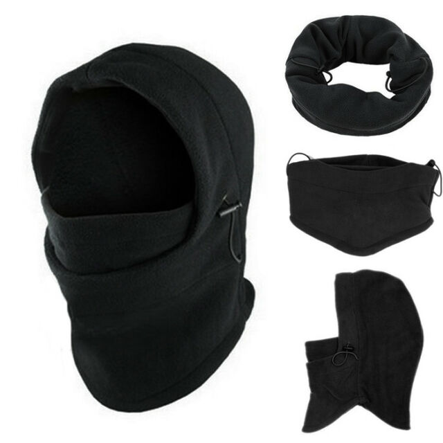 5ac0f1a32de 6 in1 women mens Neck Balaclava Winter Face Hat Fleece Hood Ski Mask Warm  Helmet
