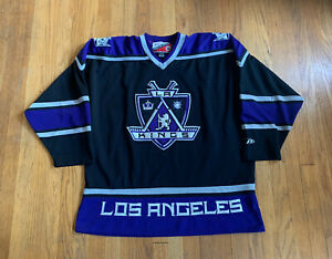 Los-Angeles-Kings-Vintage-90-s-Pro-Player-Authentic-NHL-Home-Jersey-XL-EUC-Rare