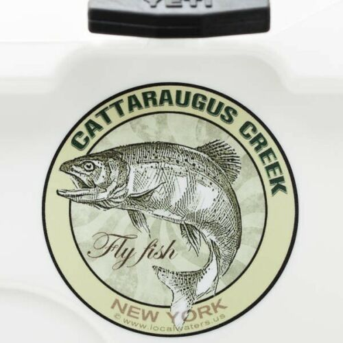 Cattaraugus Creek Fly Fishing Sticker New York DecalGUARANTEE 3 yrs no fade