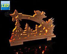 LED Lichterbogen aus Holz 10 LEDs Dekolicht Tisch Fensterbank Weihnachtsdeko