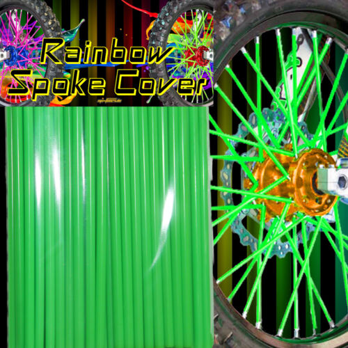 Spoke cover Spoke Tubes Wraps Skins Ribb Speichen Überzug 72 Stck Grün Rainbow