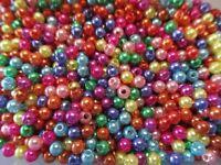 100/300/500/1000 Stück Wachsperlen - 4mm MIX BUNT C - Perlen von Bastelconcepte