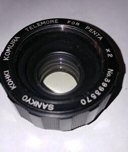 Sankyo-khoki-komura-Telemore-X2-Teleconverter-for-Pentax-M42-camera-lens