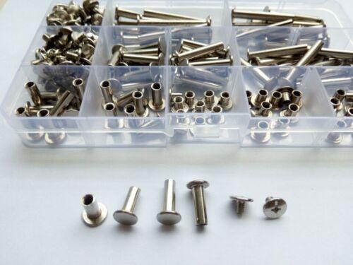 200pcs M5 male to female rivets screws docking screw connection rivet 5mm-35mm