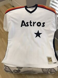 sports shoes aab2e 16ac9 Details about Authentic Mitchell & Ness 1986 Houston Astros Nolan Ryan  Jersey Sz 4xl