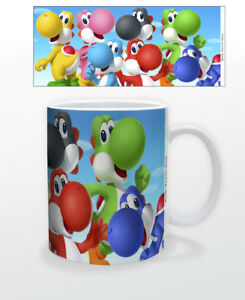 Details about SUPER MARIO YOSHI 11 OZ MUG NINTENDO VIDEO GAMES CLASSIC  LUIGI BOWSER PRINCESS!!