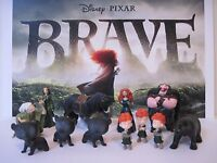 Disney Pixar Brave Movie 12 Pc Figure Toy Play Set Merida Witch Cake Toppers
