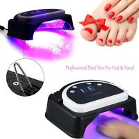Anself 64w 32pcs Led Nail Dryer Lamp Curing Maching Touch Sensor Lcd Hot P2e4