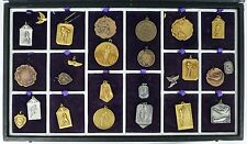 Collection of 1930's Robbins Co. Attleboro Contest Medals in Cases - Boy Scout