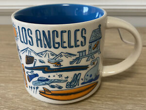 Starbucks Been There Series Across The Globe Los Angeles Blue 2018 14 Oz Mug