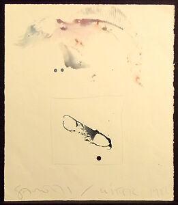 Scott-Sandell-034-Winter-1986-034-Signed-Original-Watercolor-Painting-on-Paper-fish