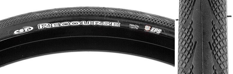 Cst Premium Recourse Tire Cstp Recourse 700x25 Bk Fold 120lb Eps