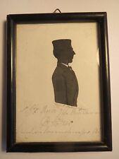 Eisenach - 1858 - Student ? Stötzer aus Meiningen - Schattenriss Silhouette