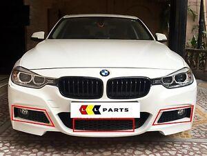 BMW-NEW-GENUINE-3-F30-F31-11-15-M-SPORT-FRONT-BUMPER-GRILL-TRIM-SET-OF-THREE