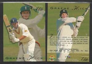 GRAEME HICK 1995 FUTERA CRICKET ASHES ELITE CARD No 21