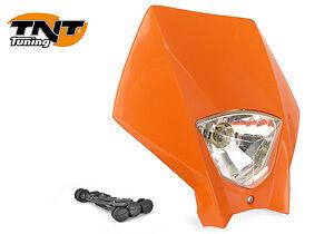 Tete de fourchephare Master ORANGE Moto Cross Enduro Headlight KTM 250 NEUF