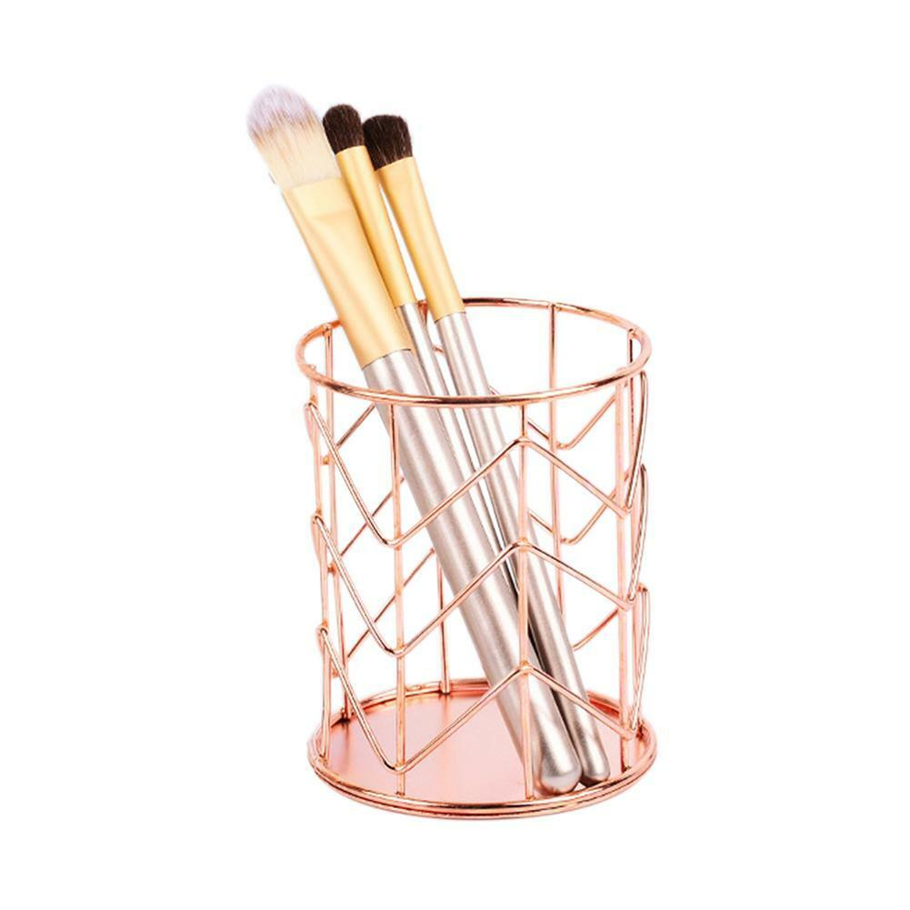 Portable Office Desk Pen Pencil Makeup Brush Holder Cup Mesh Organizer  Container
