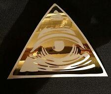 Gli illuminati tutti vedendo occhio della provvidenza GOLD CHROME Vinile Decalcomania Adesivo