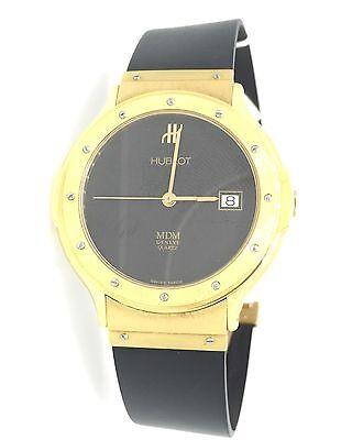 EXCELLENT HUBLOT MDM Classic 18K Yellow Gold Quartz Watch - HM1260
