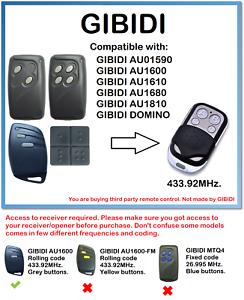 GIBIDI-AU01590-AU1680-AU1600-AU1610-DOMINO-Compatible-Remote-Control