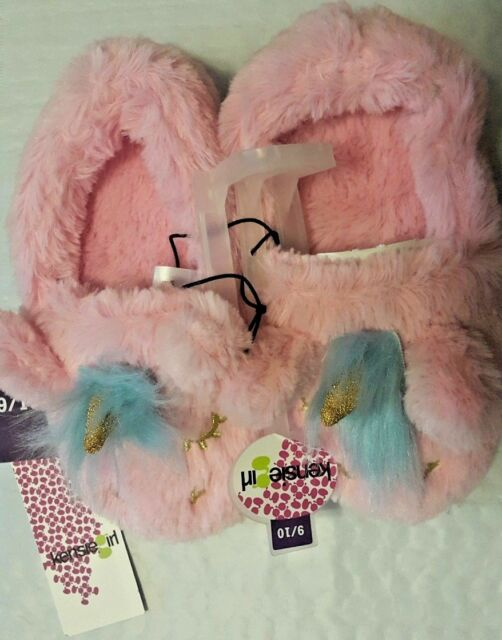 818c10c5ced Kensie Girl PINK Unicorn Plush Slippers Girls Size 11 12 for sale ...