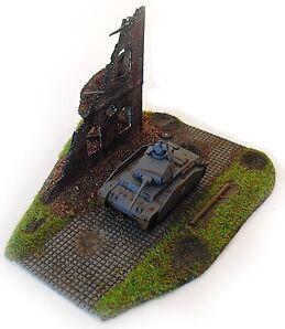 RESIN Schnell – Bausatz Diorama Große Ruine mit Straße für 1:72 (09) **NEU**