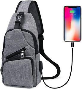 flintronic-Sacoche-Homme-Bandouliere-Sac-a-Poitrine-avec-Chargement-USB-Sac