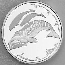 Canada 2013 $3 Bowhead Whale Hunt Life in the North 1/4 oz Silver Matte Proof