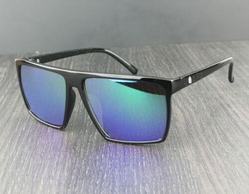 Hombre Parte Superior Plana Rectangular Lente Gafas de Sol UV400 Lente