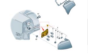 For Audi A4 Quattro Passenger Right Tail Light Bulb Holder GENUINE 8E5 945 258 A