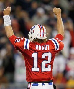 red tom brady throwback jersey