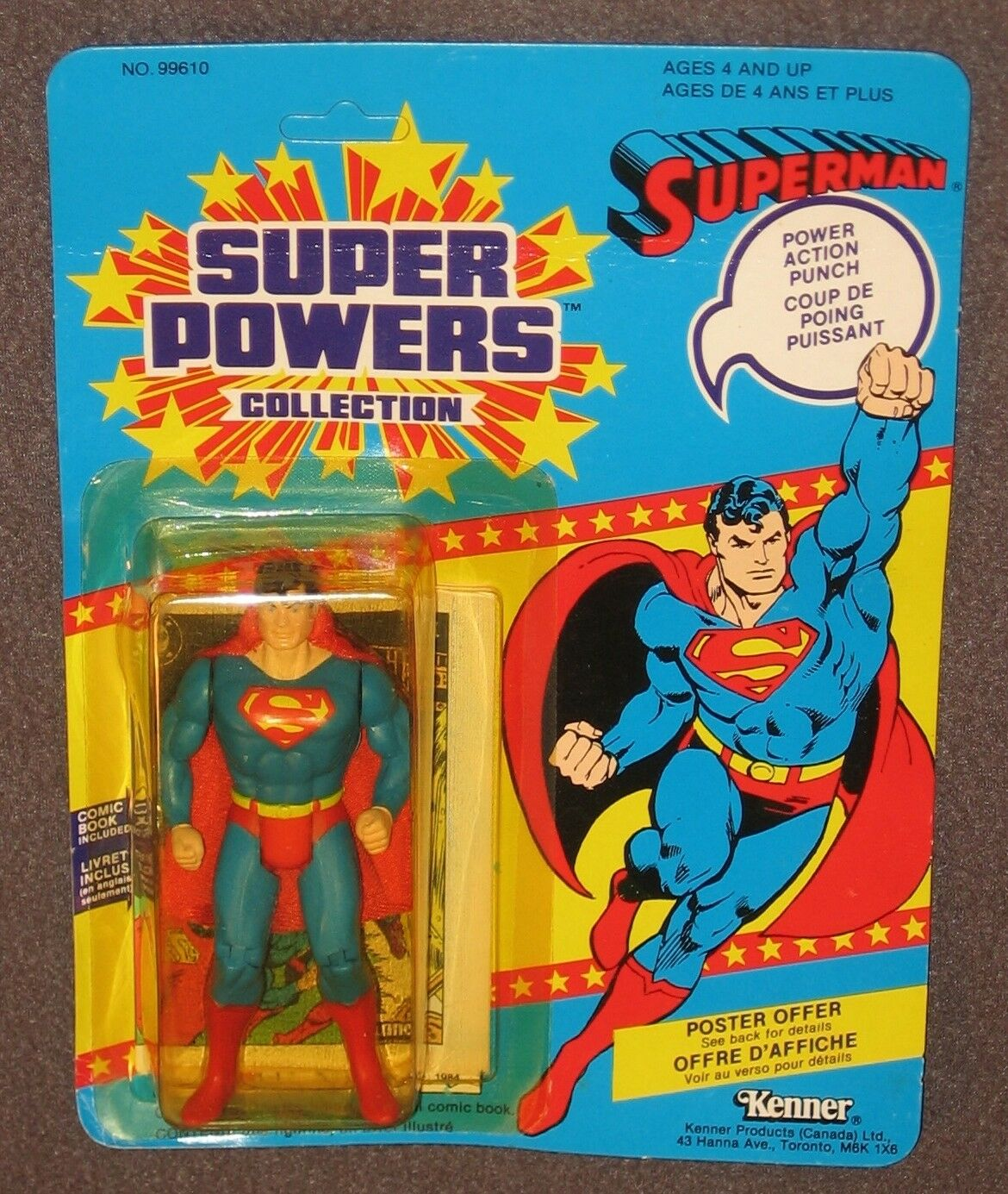 Super Powers Superman Superman Superman 4.5  Action Figure 1984 MOC Kenner Justice DC Comics ccc922