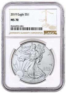 2019-1oz-Silver-American-Eagle-NGC-MS70-Brown-Label-In-Stock