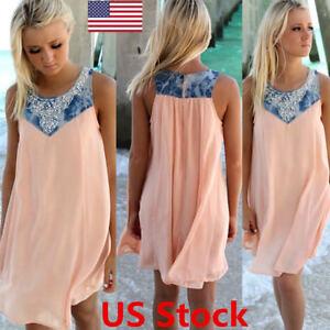 New-Women-Blouse-Chiffon-Sleeveless-Ladies-T-Shirt-Casual-Loose-Short-Dress-Tops