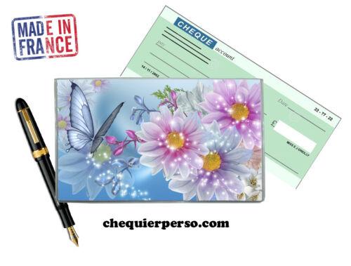 fleurs floral 01-011 protège porte chéquier format portefeuille