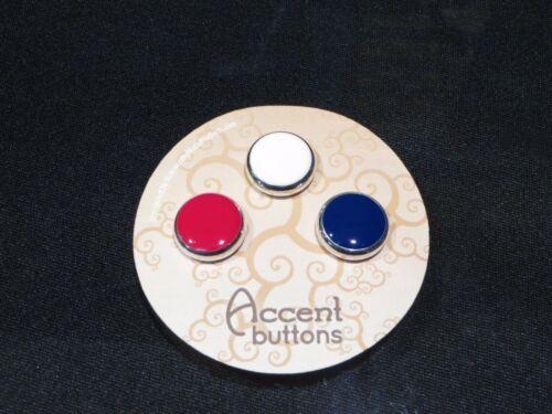 and Blue Yamaha Xeno Silver Trumpet Buttons by Noteworthy Products Red White