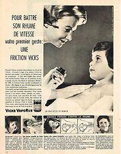 PUBLICITE ADVERTISING  1959   VICKS VAPORUB